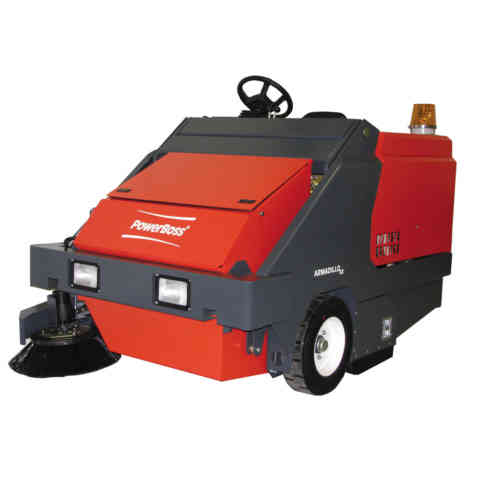 PowerBoss Armadilo Ride On Sweepers