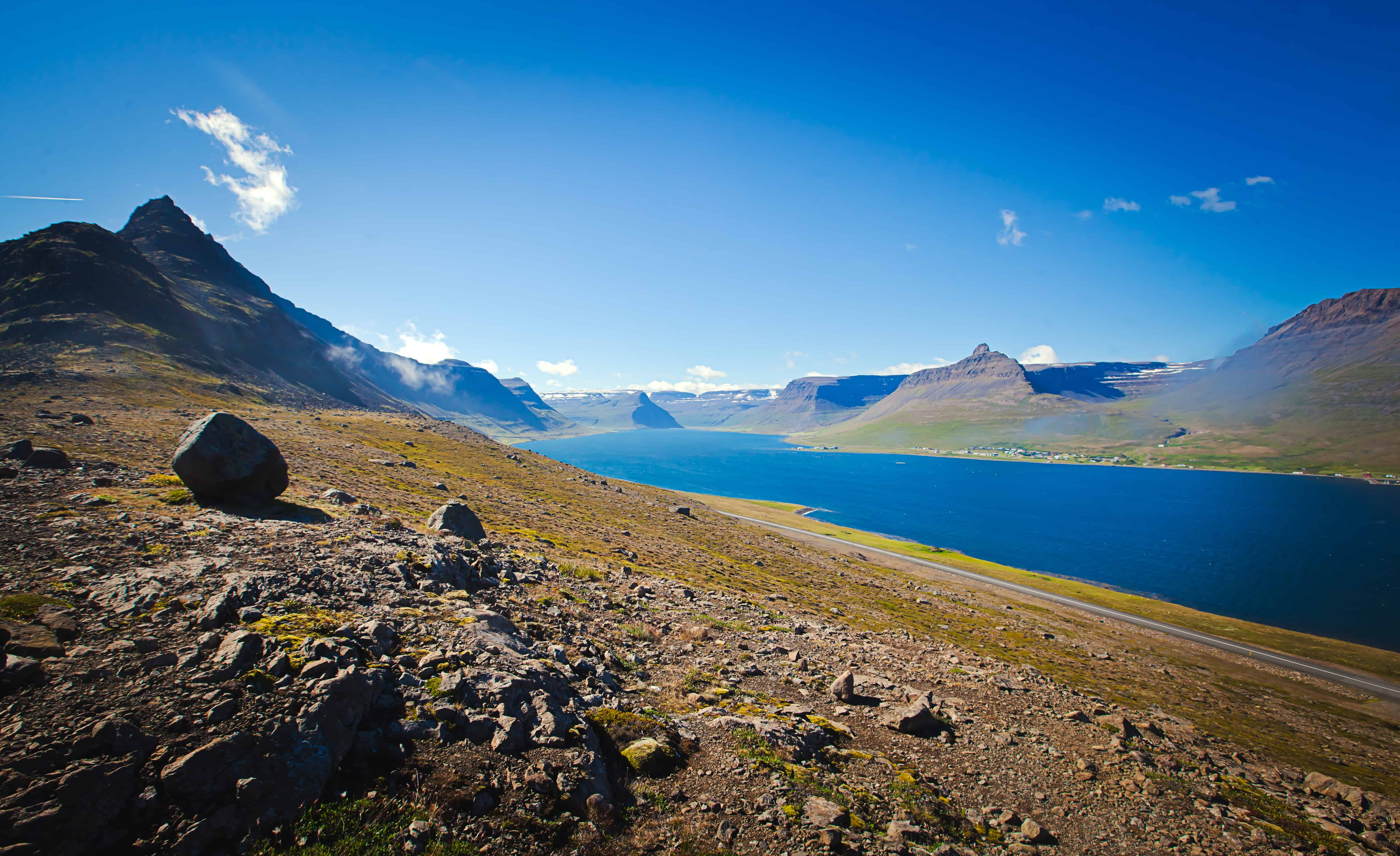 View over the Westfjords in Iceland
