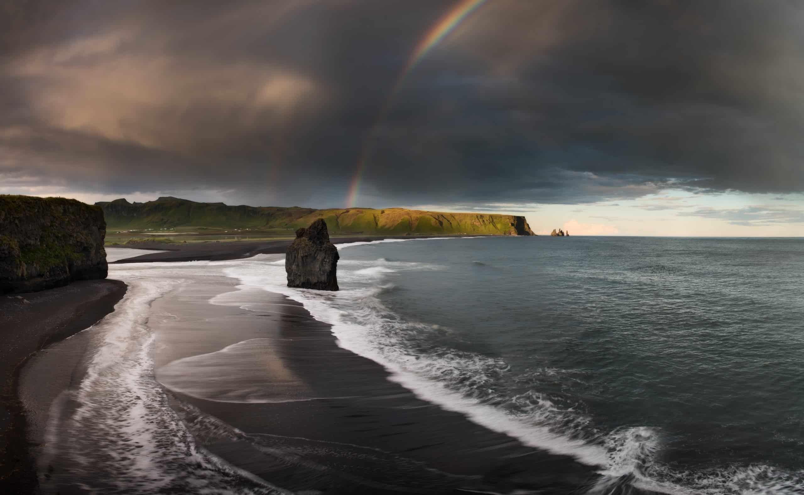 View of the Black Beach on Iceland's South Coast