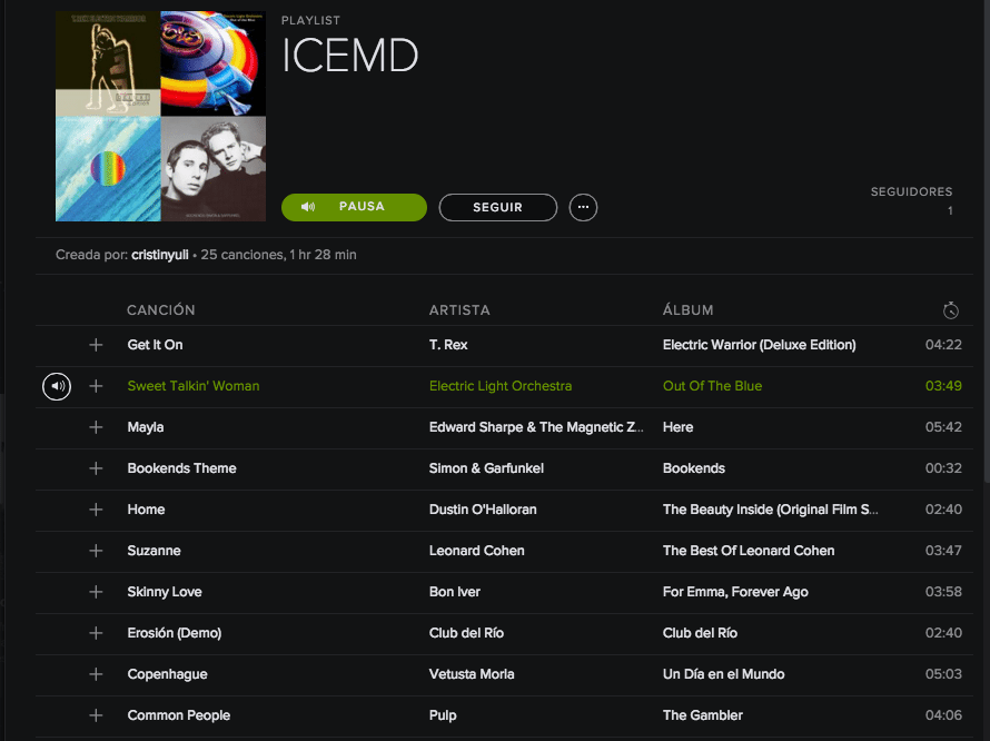 la musica de area academica icemd