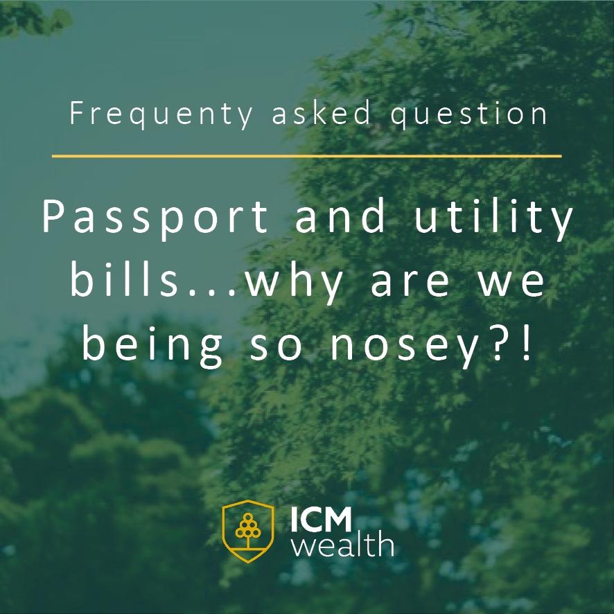 Passport and utility bills...why are we being so nosey?