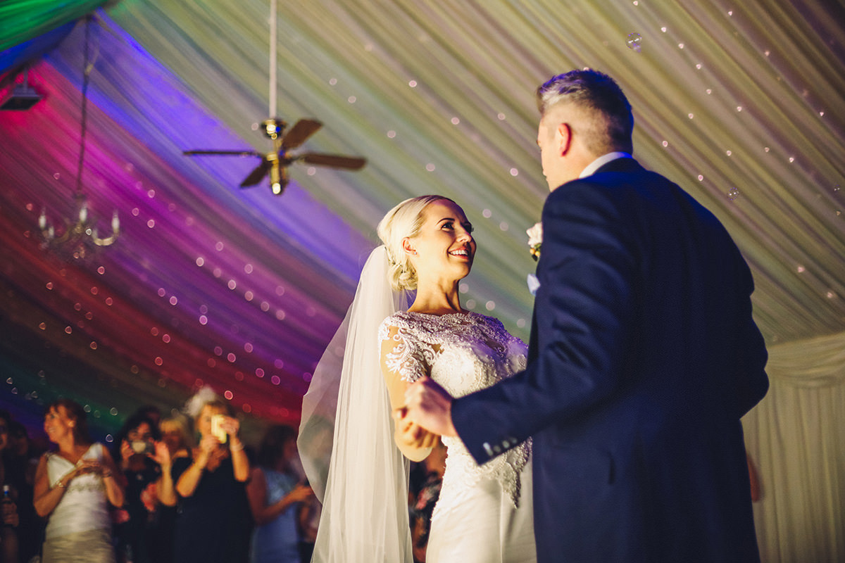 Manchester Wedding Photography Bride and Groom First Dance