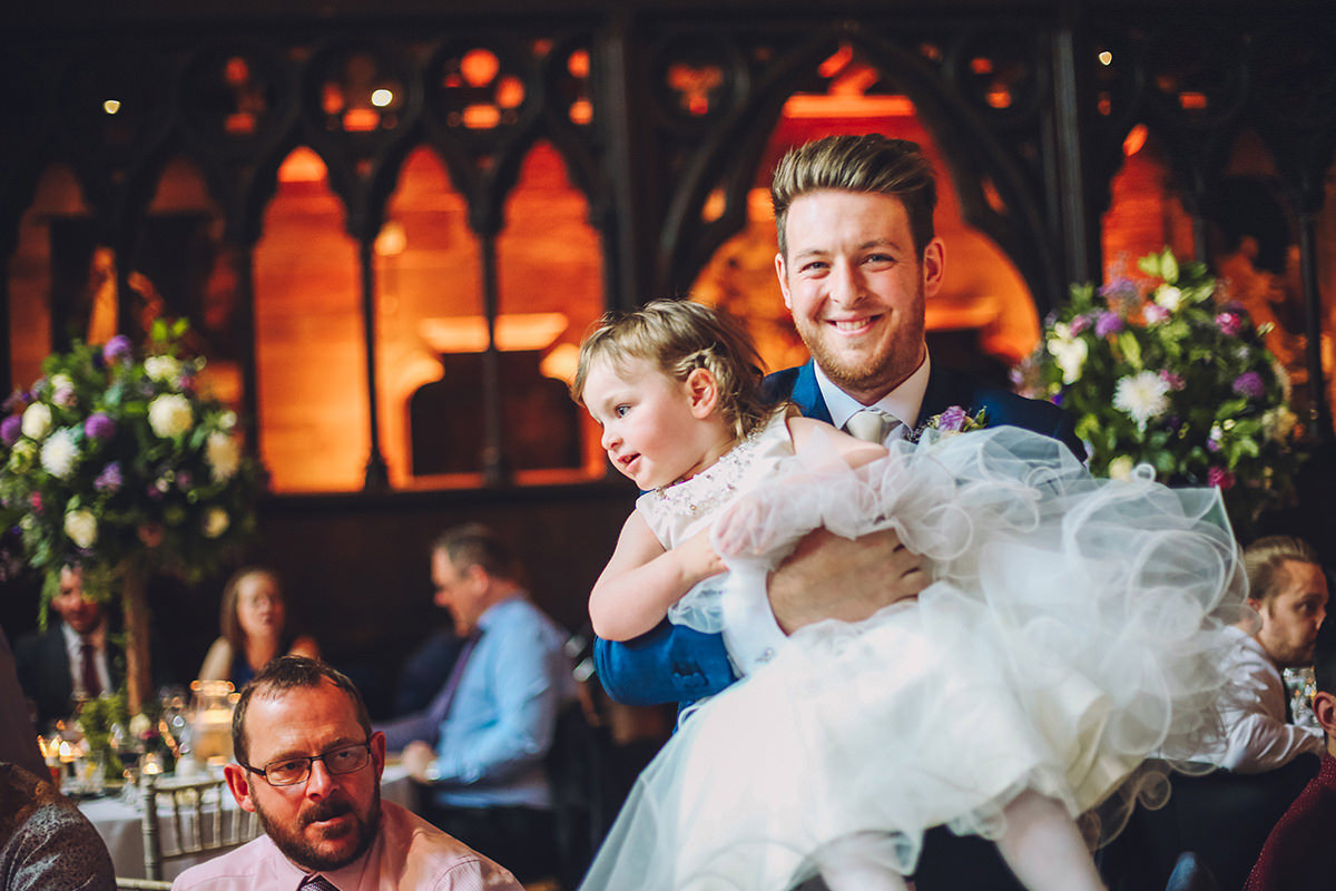Manchester Wedding Photography Groom and Daughter Photo Shoot Peckforton Castle Cheshire