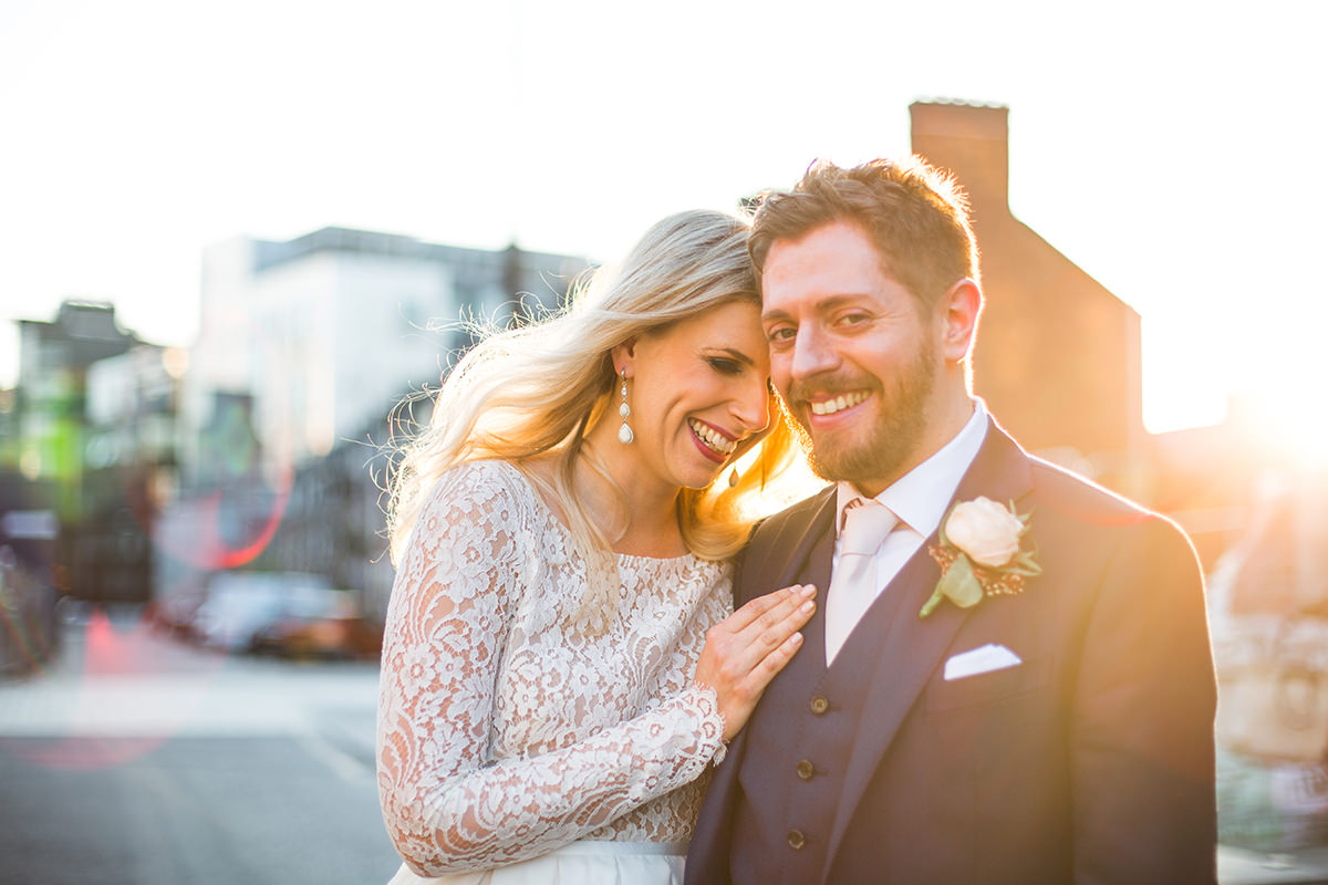 Candid Manchester Wedding Photography Bride and Groom Photo Shoot Halle St Peters Golden Hour