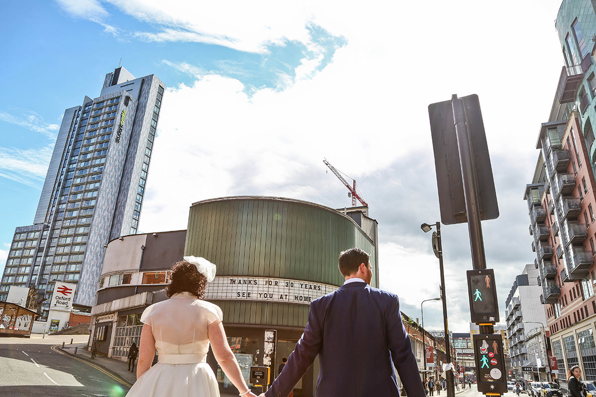 Vintage wedding photographer Manchester Palace Hotel