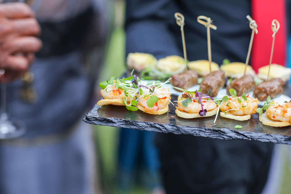 Canapé Mere Court Hotel Wedding Photographer Manchester
