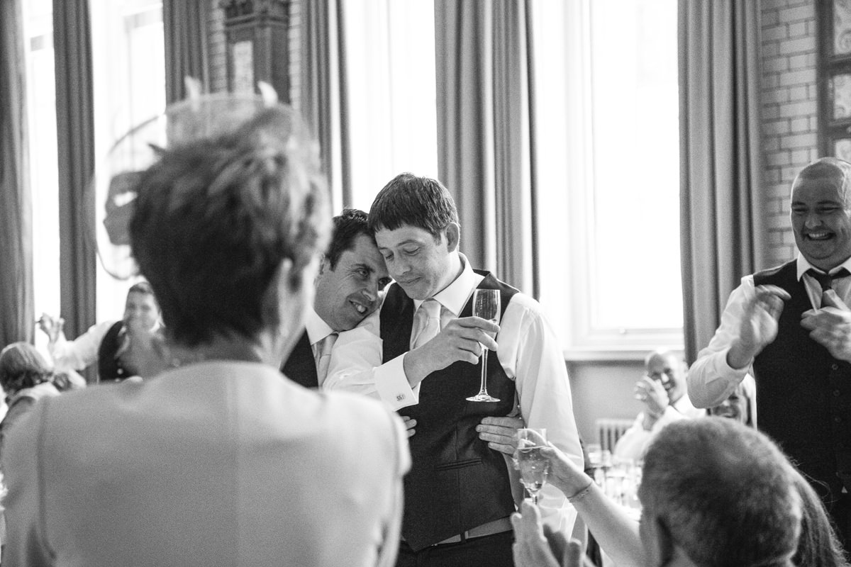 Speech Wedding Photographer Manchester The Palace Hotel.