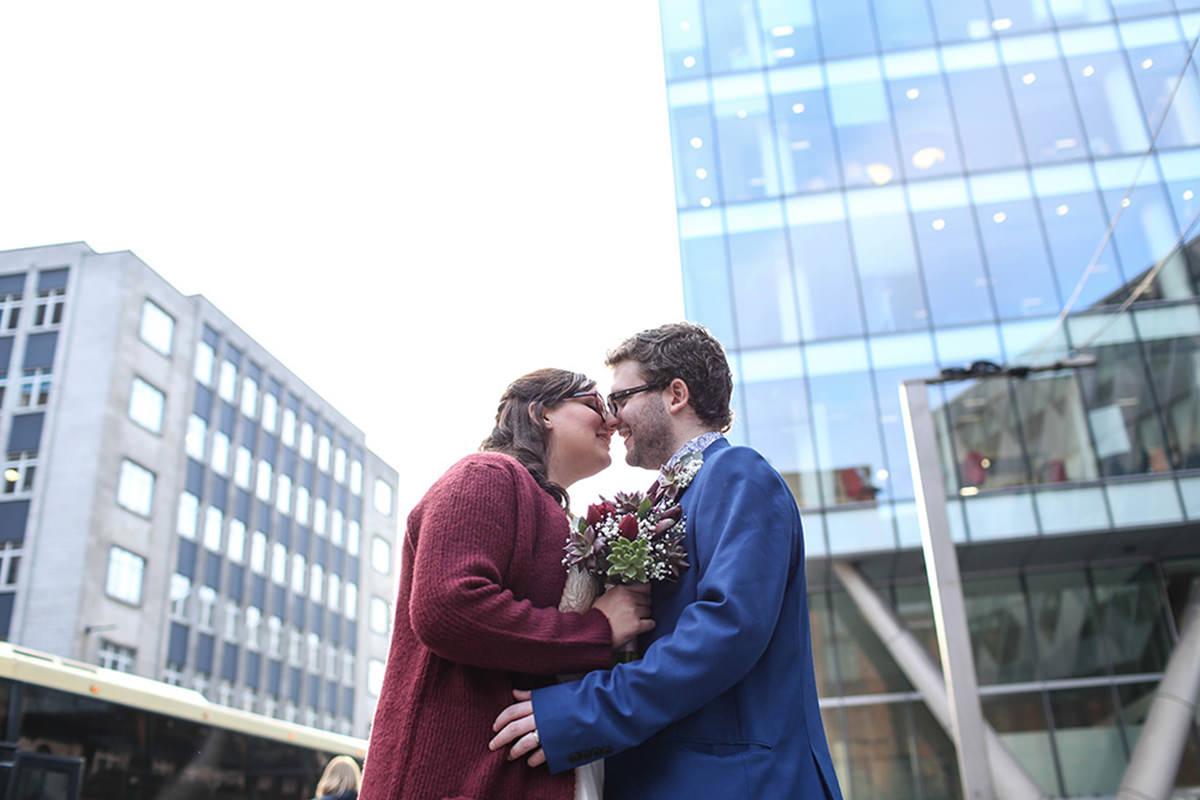 Manchester wedding photographers spinningfields wedding