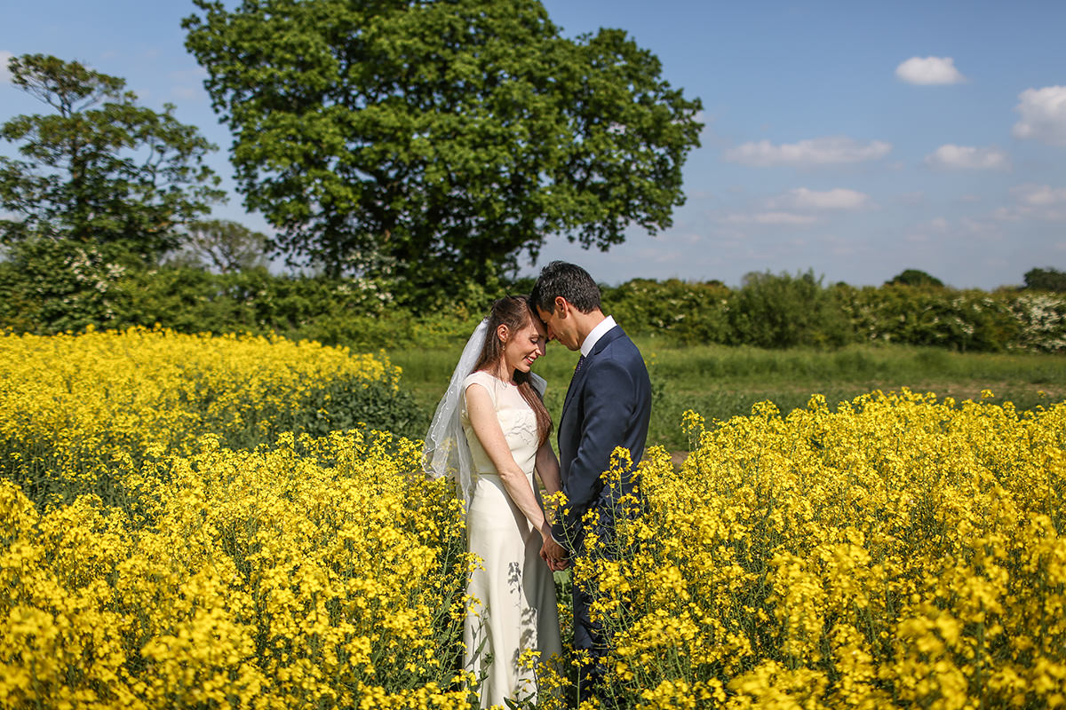 Bride and Groom Creative Wedding Photographer Stockport