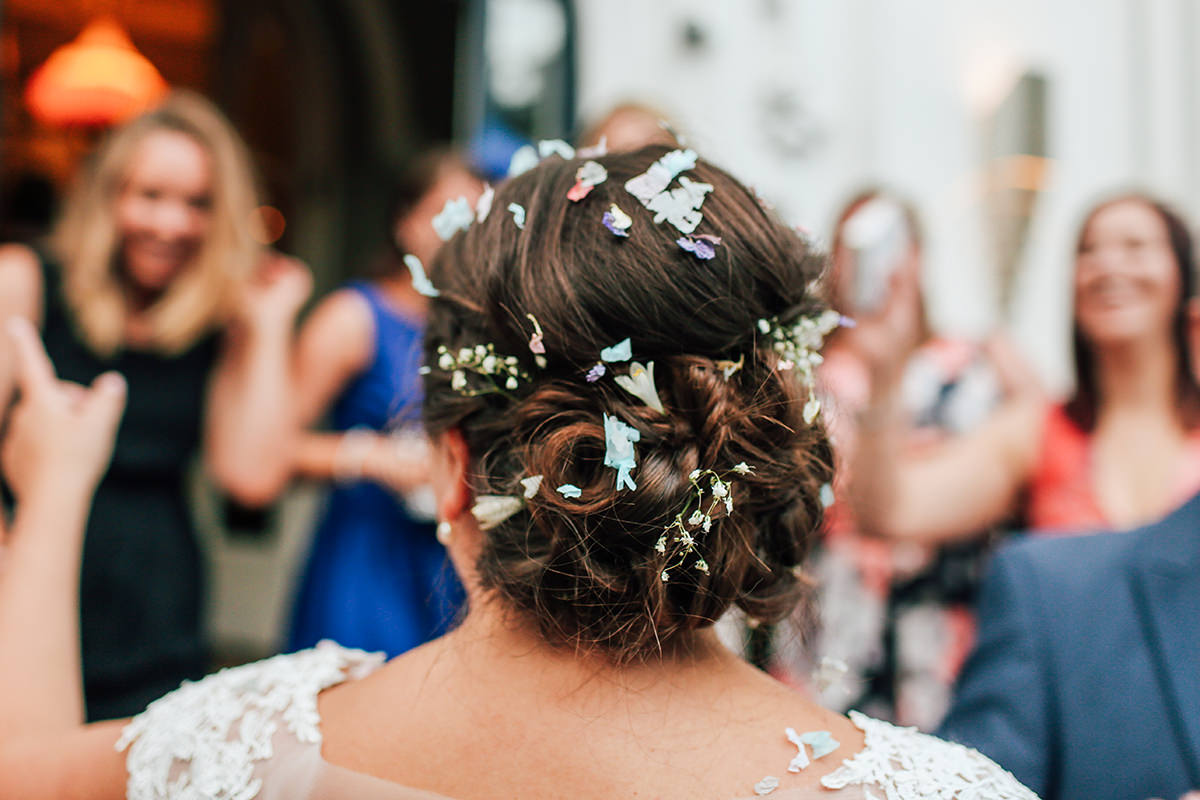 Confetti Hair, Manchester Wedding Photographer