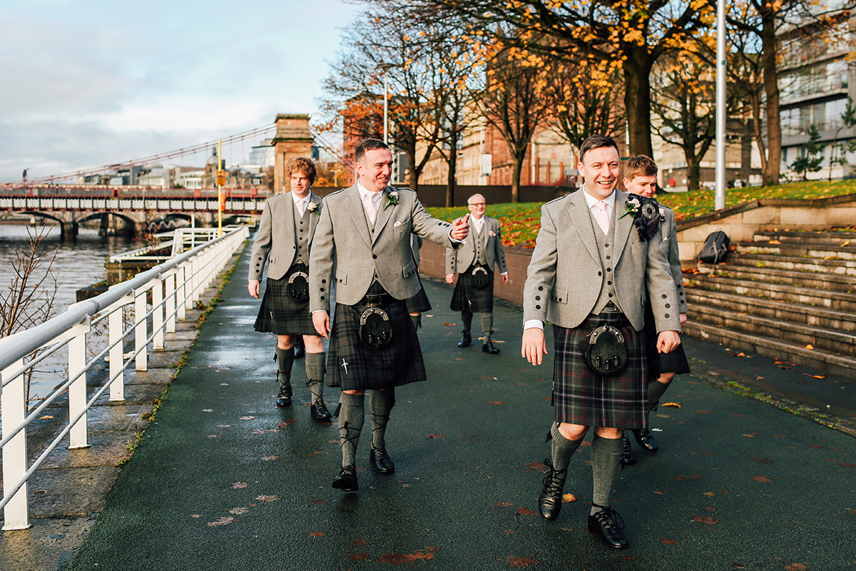 Fun Wedding Photography Glasgow Scottish Wedding Photographer St Andrews Cathedral