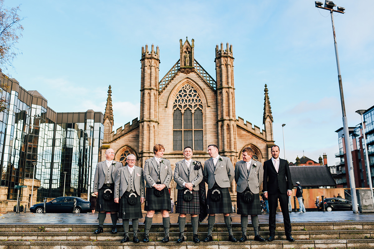 St Andrews Cathedral Wedding Photography Glasgow Scottish Wedding Photographer