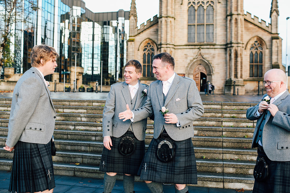 Scottish Wedding Photographer St Andrews Cathedral Glasgow Wedding Photography