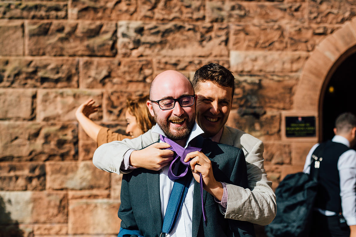 Relaxed Wedding Photography Cheshire and Manchester Wedding Photographer Peckforton Castle