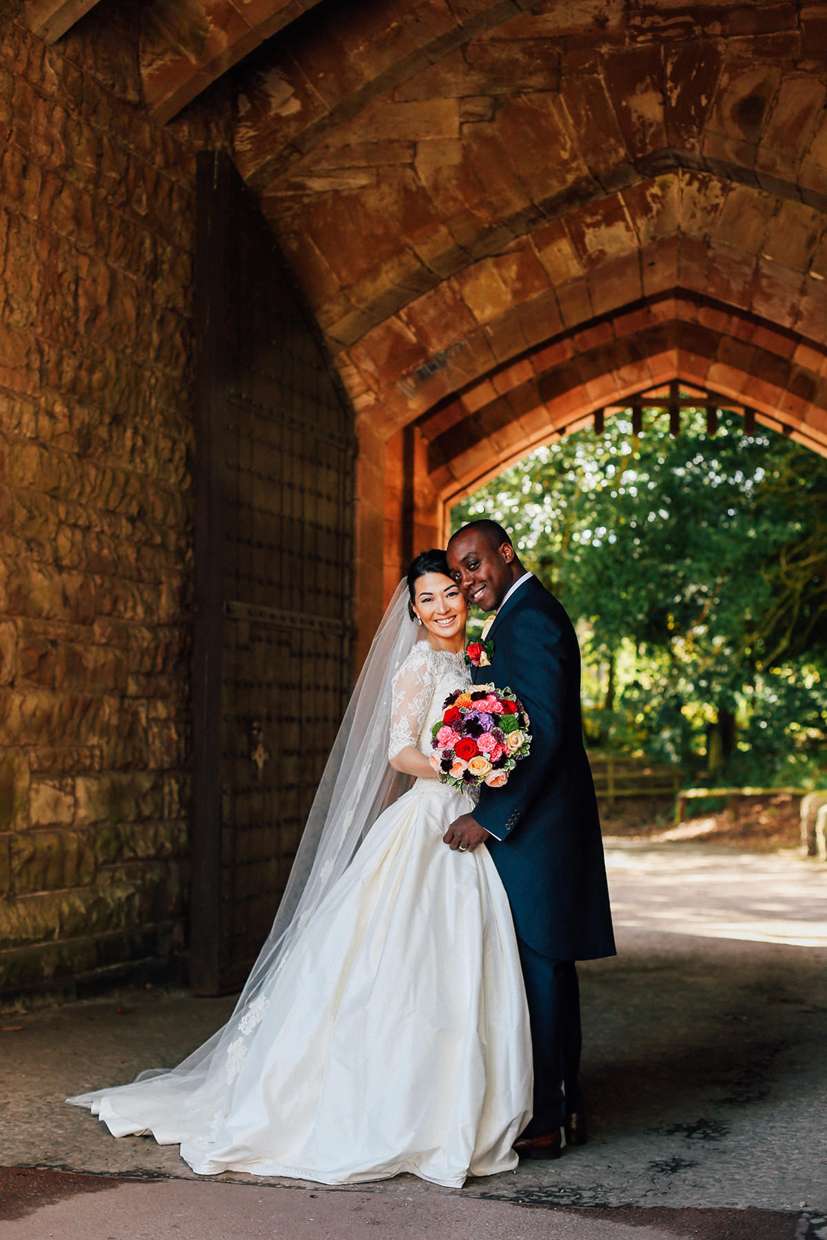 Creative Wedding Photography Peckforton Castle Cheshire and Manchester Wedding Photographer