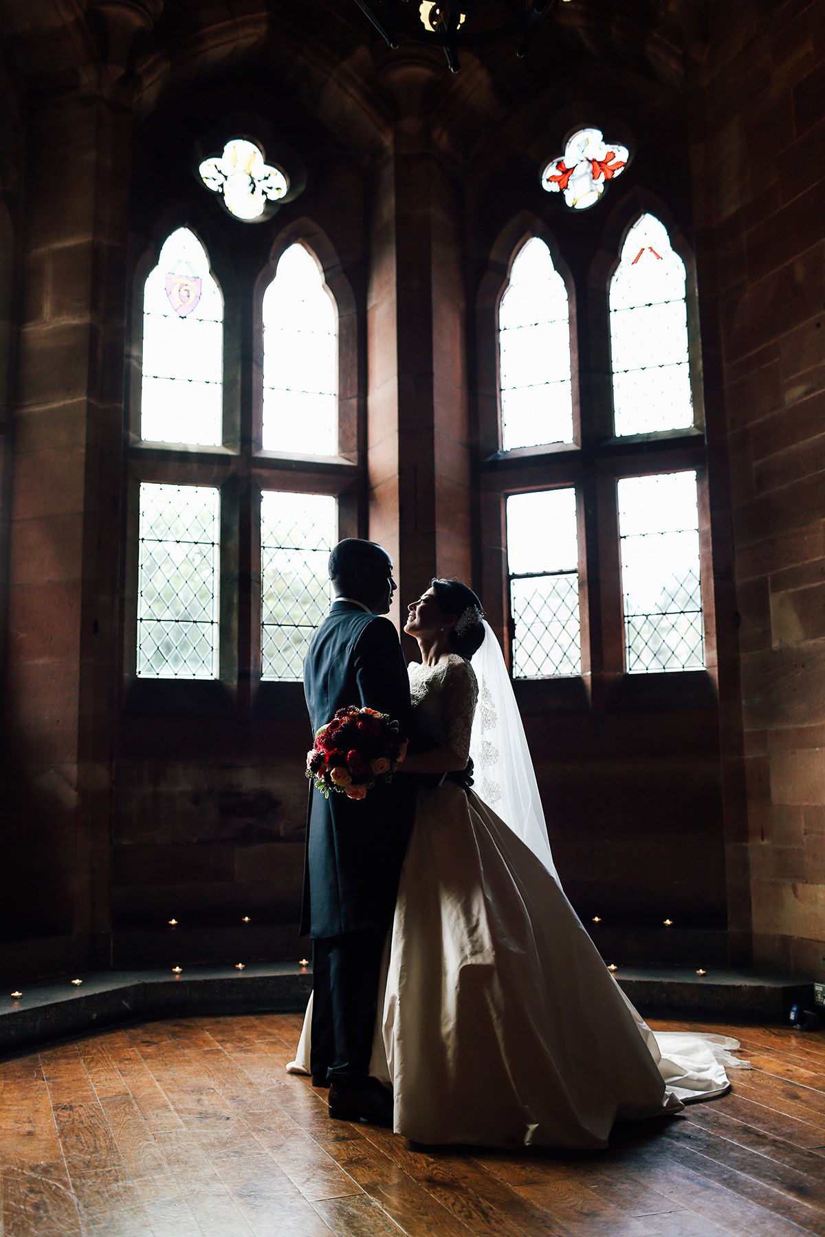 Artistic Wedding Photography Peckforton Castle Cheshire and Manchester Wedding Photographer