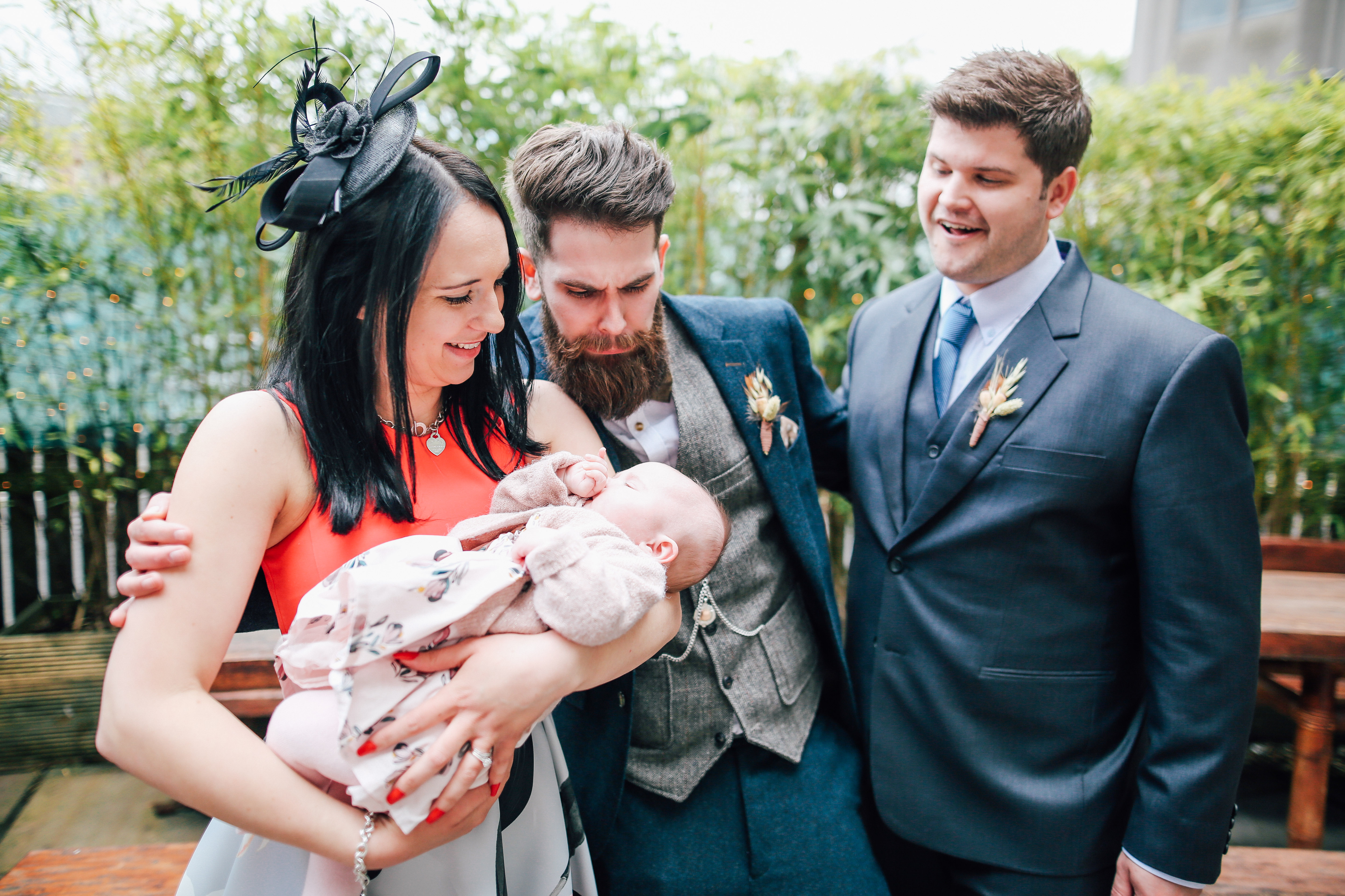 Groom and Baby Newcastle Wedding Photography As You Like It