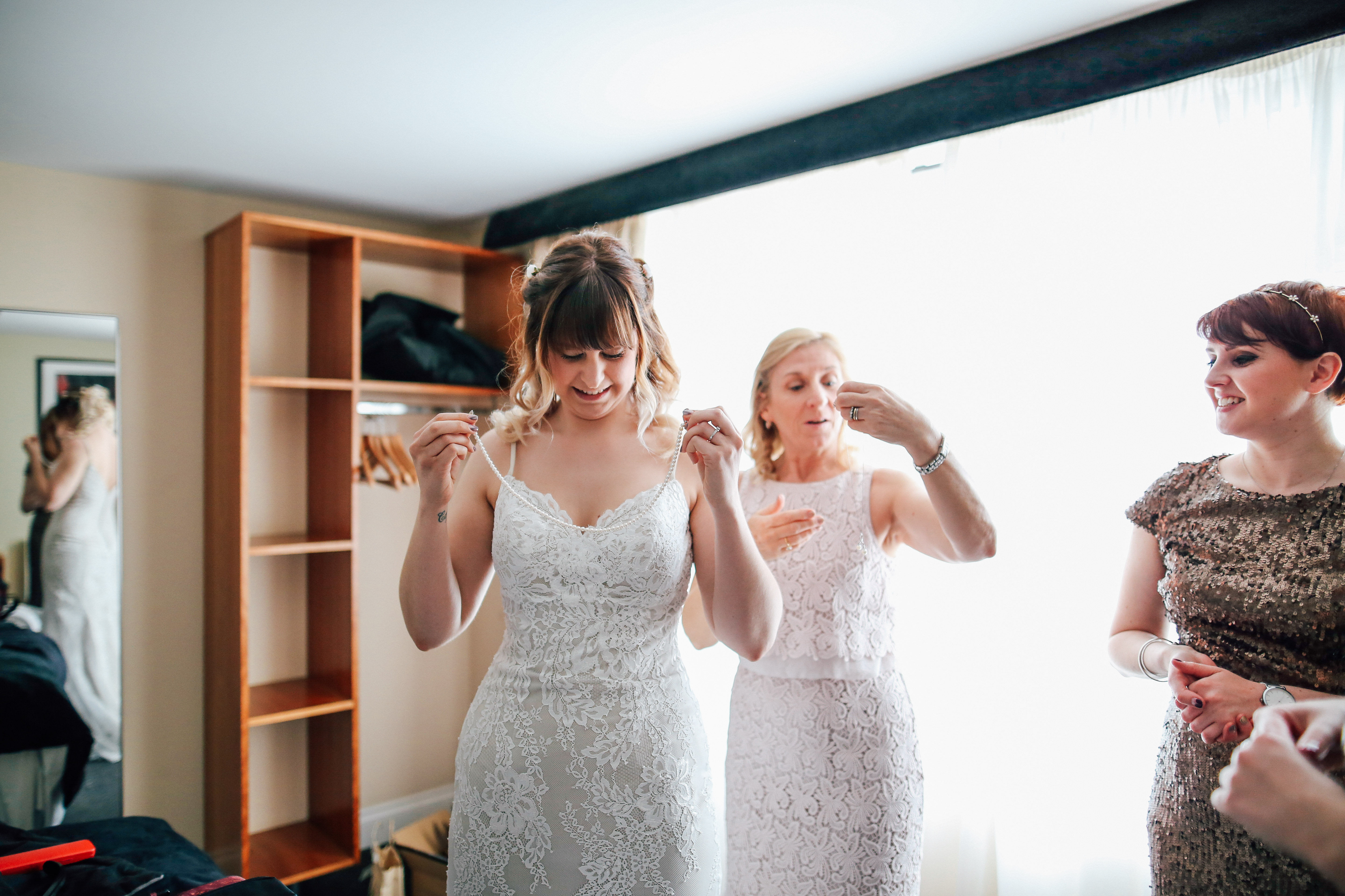 Bride getting ready Candid Wedding Photography Manchester