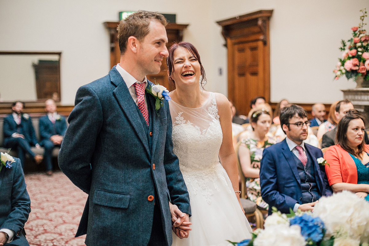 Fun Wedding Photographer St Georges Hall Liverpool and Cheshire