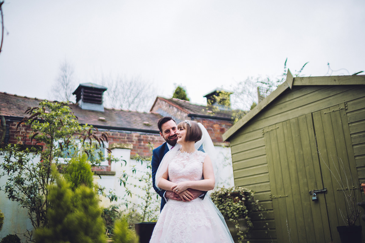Relaxed Bride and Groom Photo shoot Belle Epoque Knutsford Cheshire and Manchester Wedding Photography