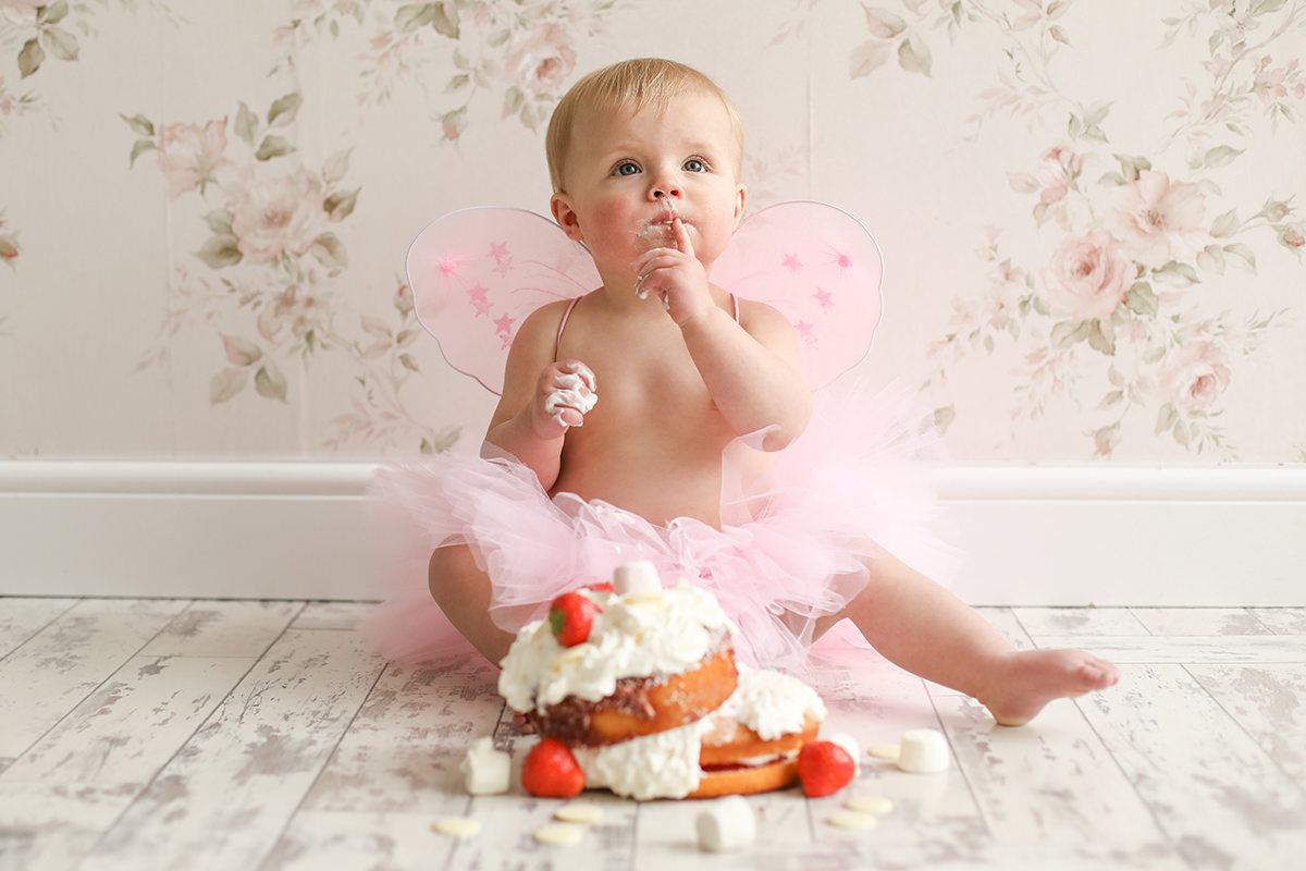 Natural Light Cake Smash Photography Stockport