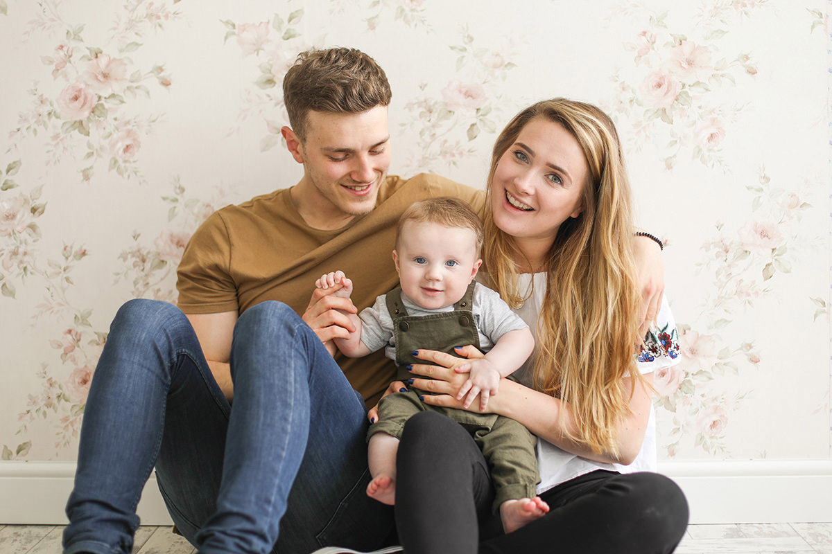 cute family portrait photography service Manchester near me