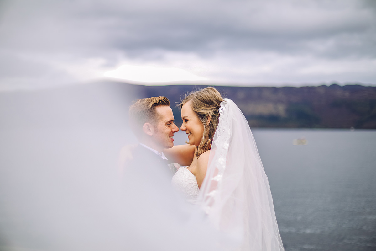 Creative Scottish Wedding Photographer Loch Lomond Arms Hotel