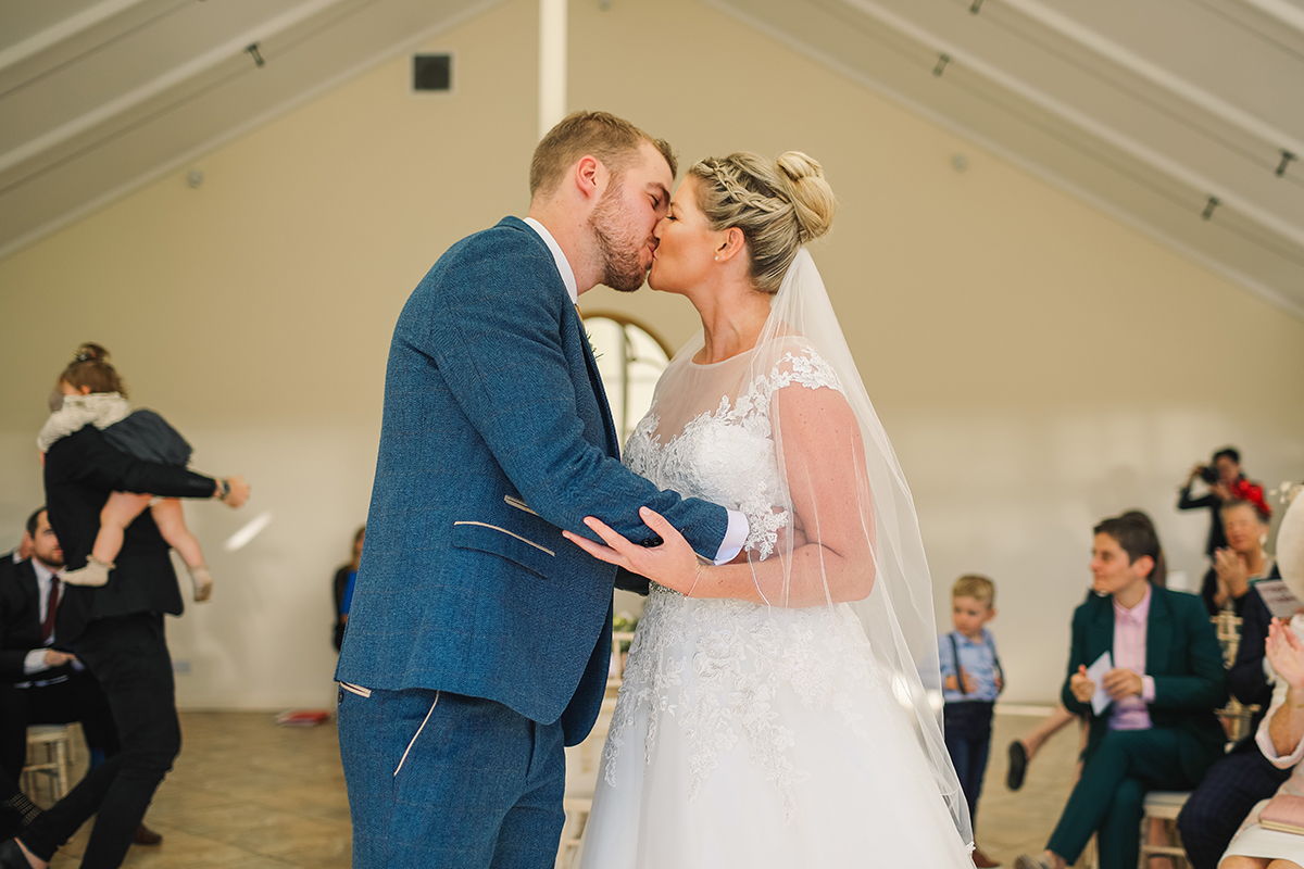 Combermere Abbey wedding | Combermere Abbey wedding photography | Combermere Abbey first kiss