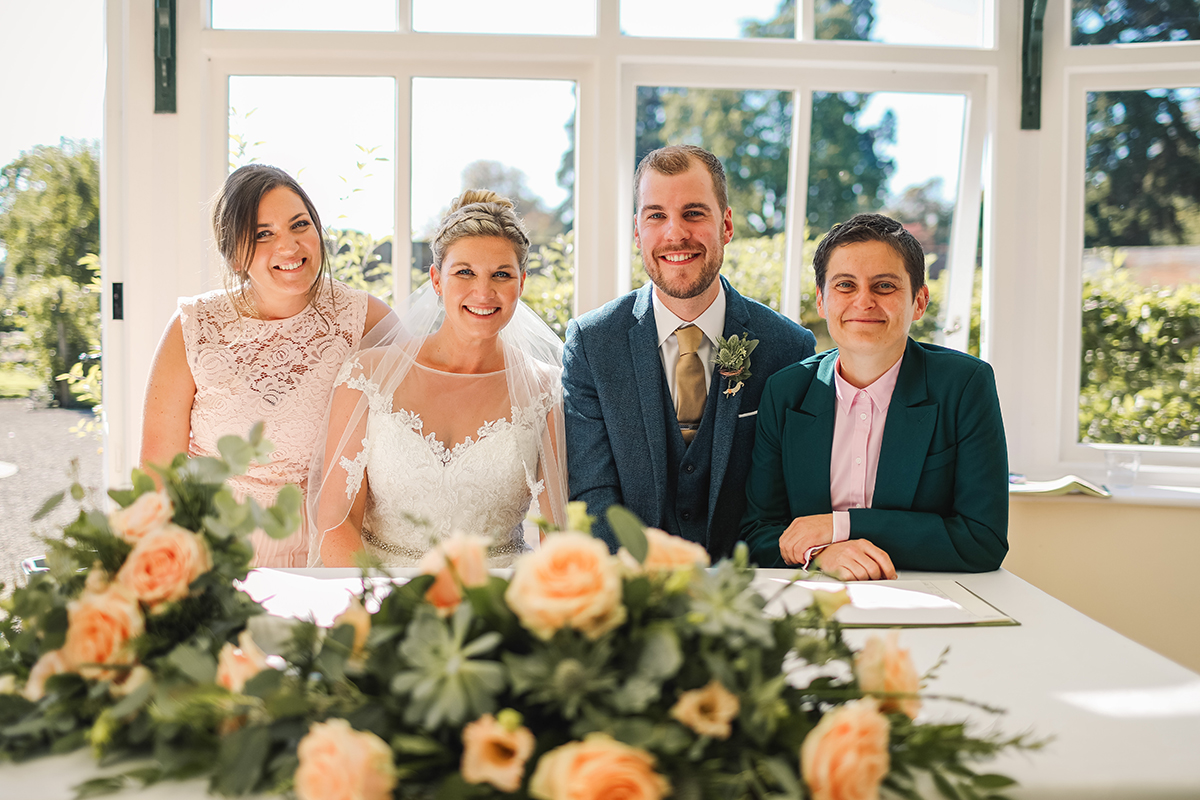Combermere Abbey wedding | Combermere Abbey wedding photography | Combermere Abbey certifying the marriage