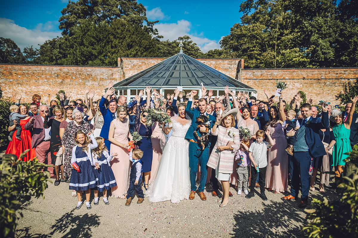 Combermere Abbey wedding | Combermere Abbey wedding photography | Combermere Abbey group photo