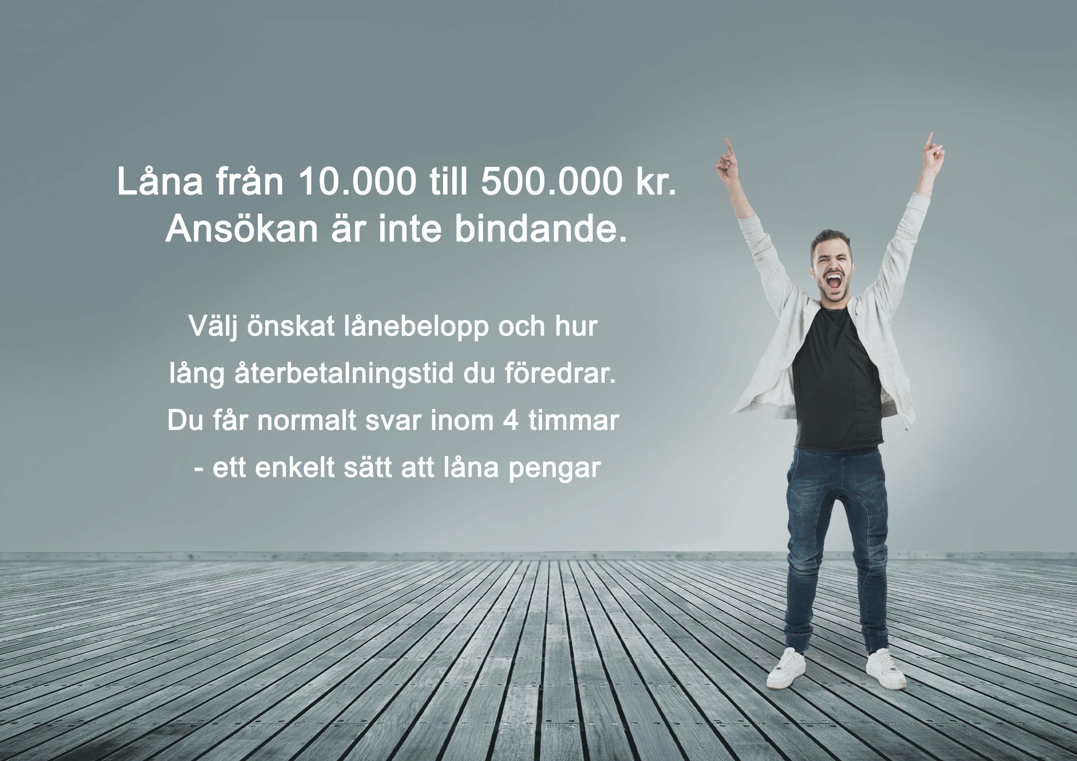 Ska låna 500 000 utan säkerhet typiskt