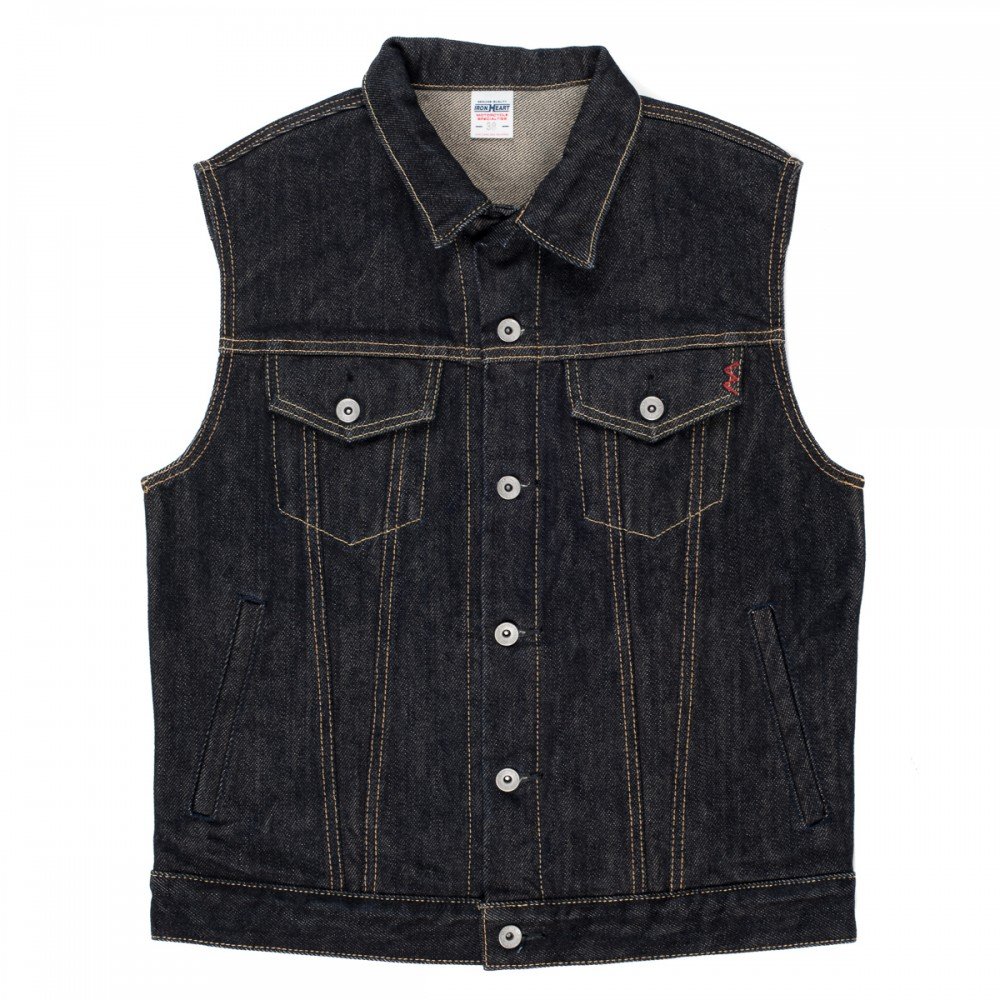 """IH-526SV - Indigo 21oz Selvedge Denim Vest  05.jpg"""