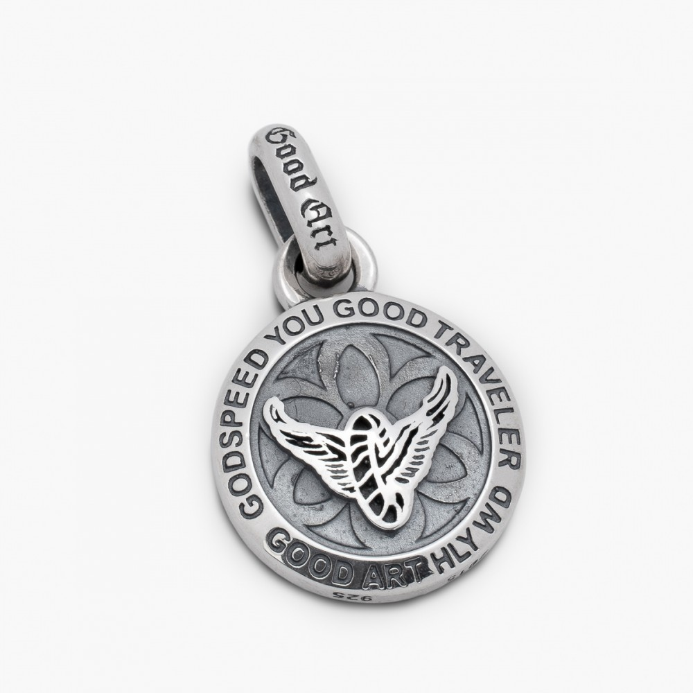 """GOOD ART HLYWD Wheels and Wings Saint Christopher Pendant--3.jpg"""