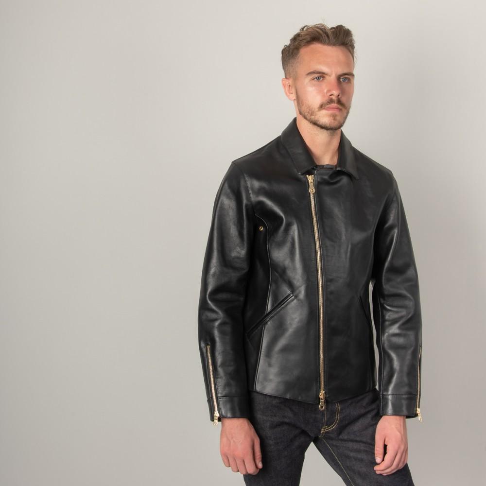 """Nine Lives Black Leather Rider's Jacket--10.jpg"""