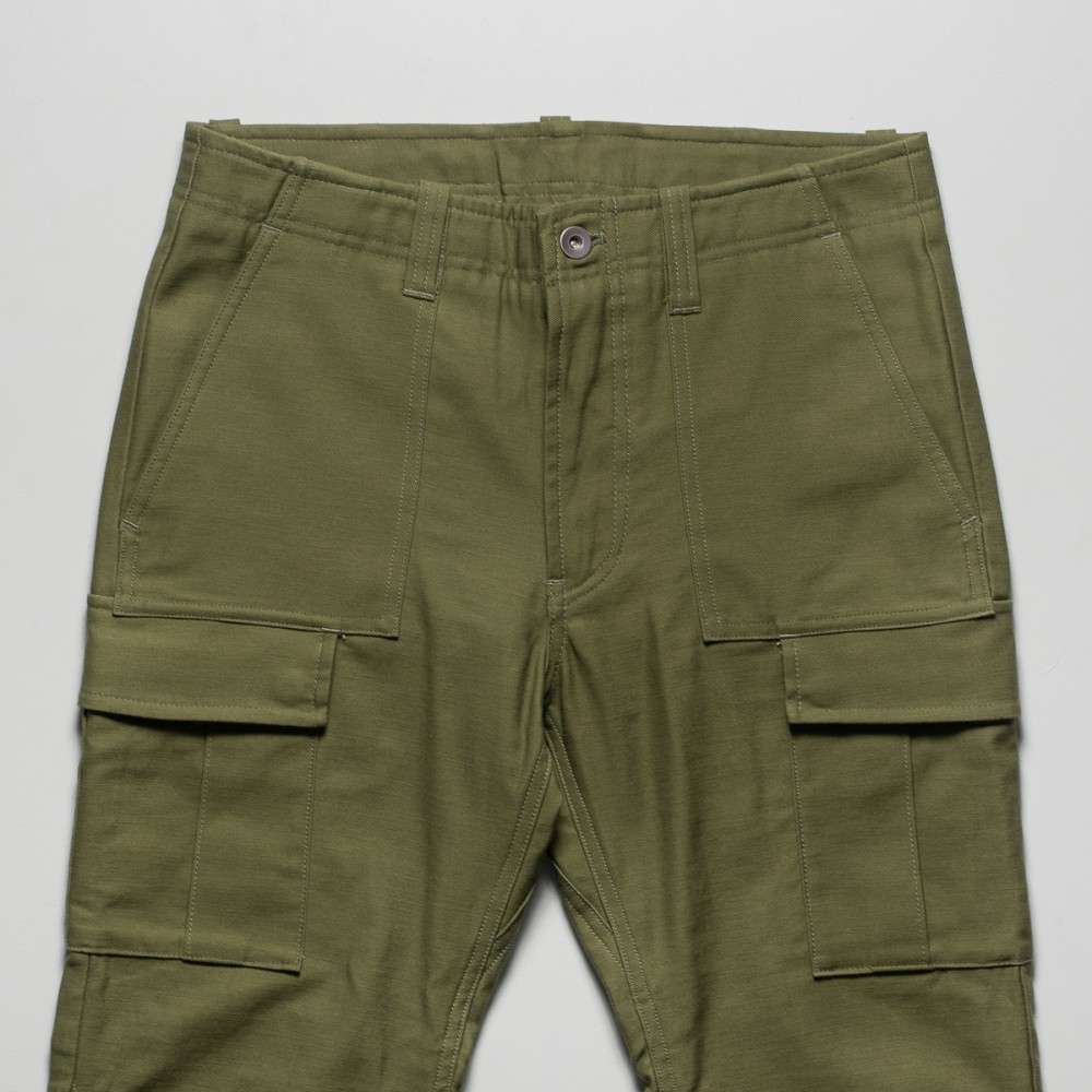 """Nine Lives Khaki Mil Back Satin Cargo Pants-25359.jpg"""