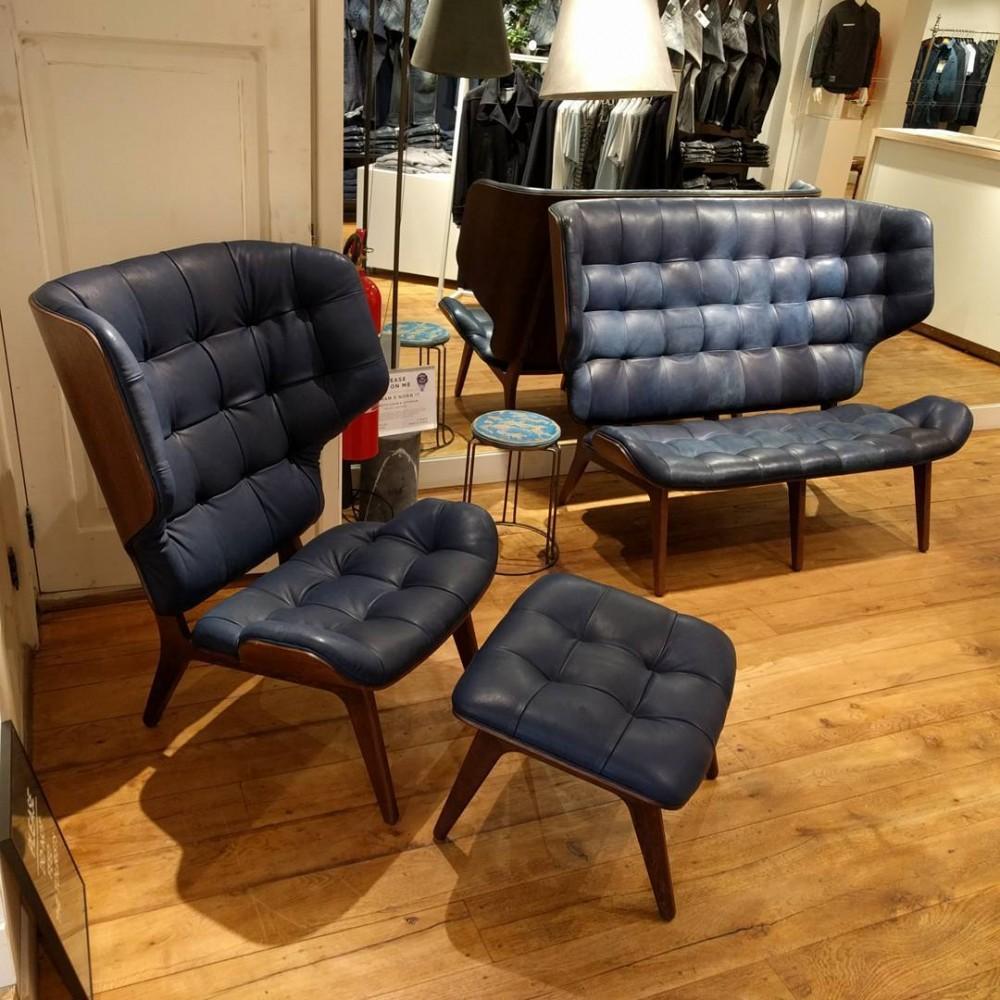 """Denham indigo leather chairs"""