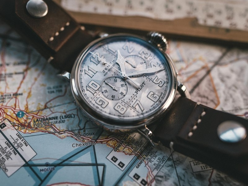 """Zenith Pilot Chronograph in Silver.jpg"""