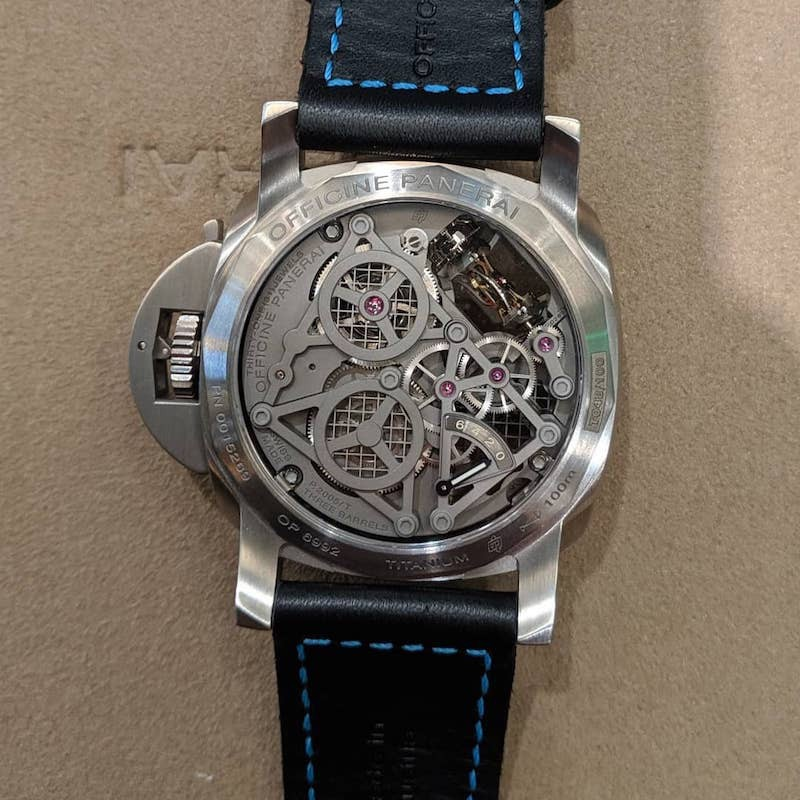 """Panerai Tourbillon Back"""