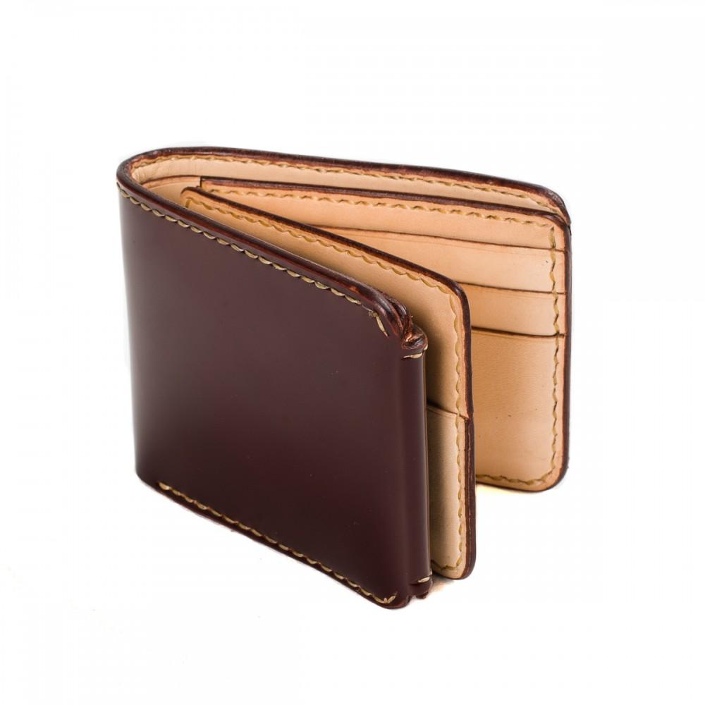 """IHG-02 - Small Shell Cordovan Wallet - Black & Oxblood02.jpg"""