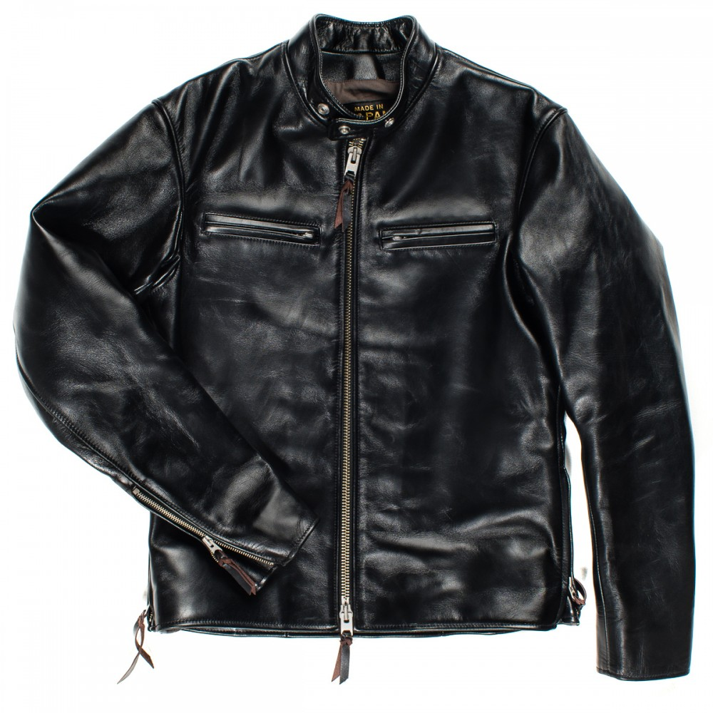 """IHJ-35 - Black Japanese Horsehide Rider's Jacket05 copy.jpg"""