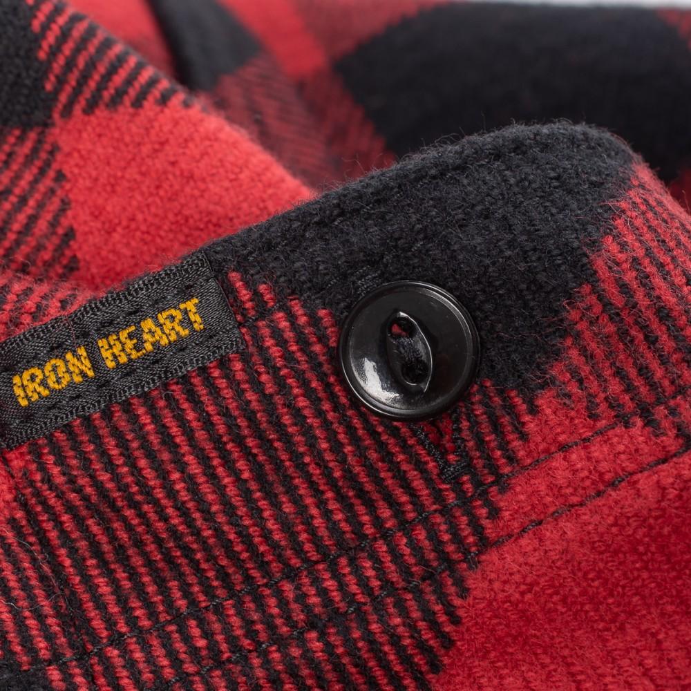 """Ultra Heavy Flannel Buffalo Check Work Shirt - Red-Black--2.jpg"""