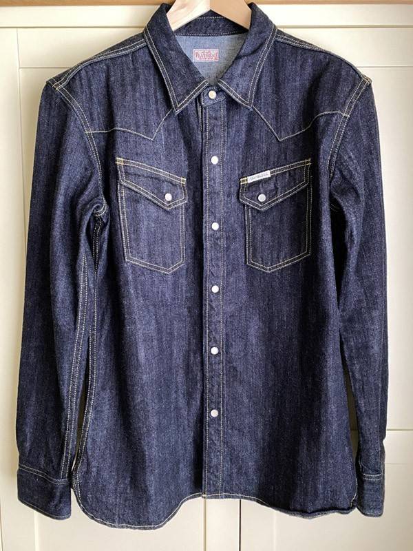 Fs Unworn Tfh Selvedge Denim Western Shirt Size Xl
