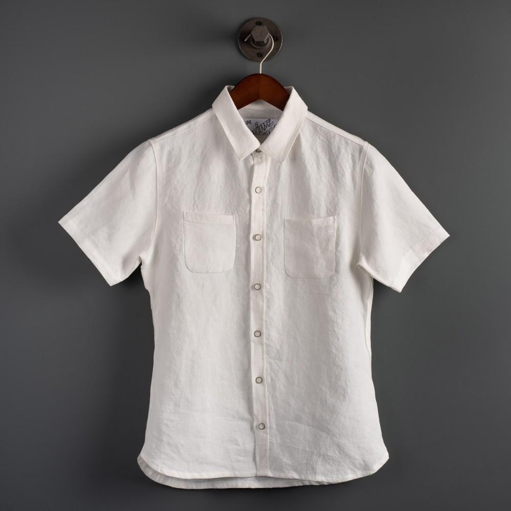 """""""Nine Lives Marshall Islander Belgian Linen Short Sleeve White Shirt--.jpg"""""""