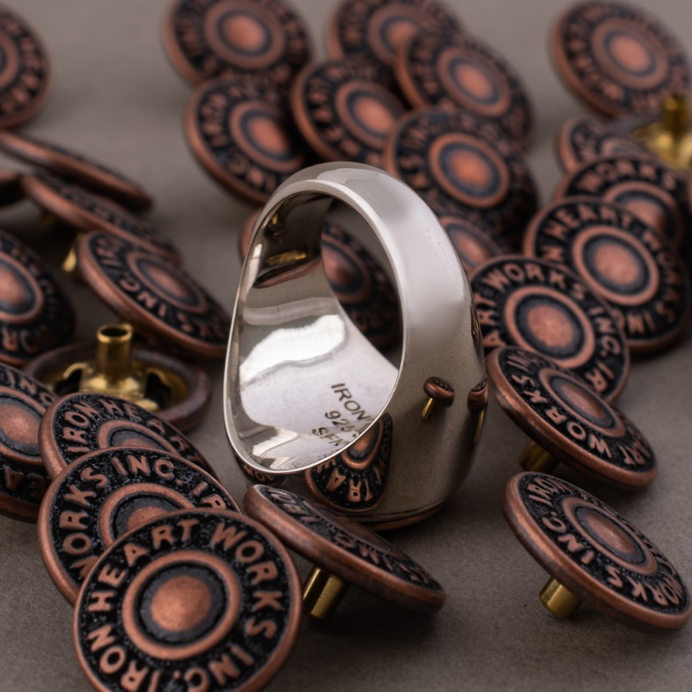 """""""Iron Heart Sterling Silver Button Ring-.jpg"""""""