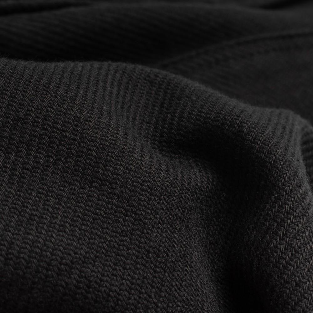 """IHSH-279-BLK - 7oz Soft Flannel Work Shirt - Black--9.jpg"""