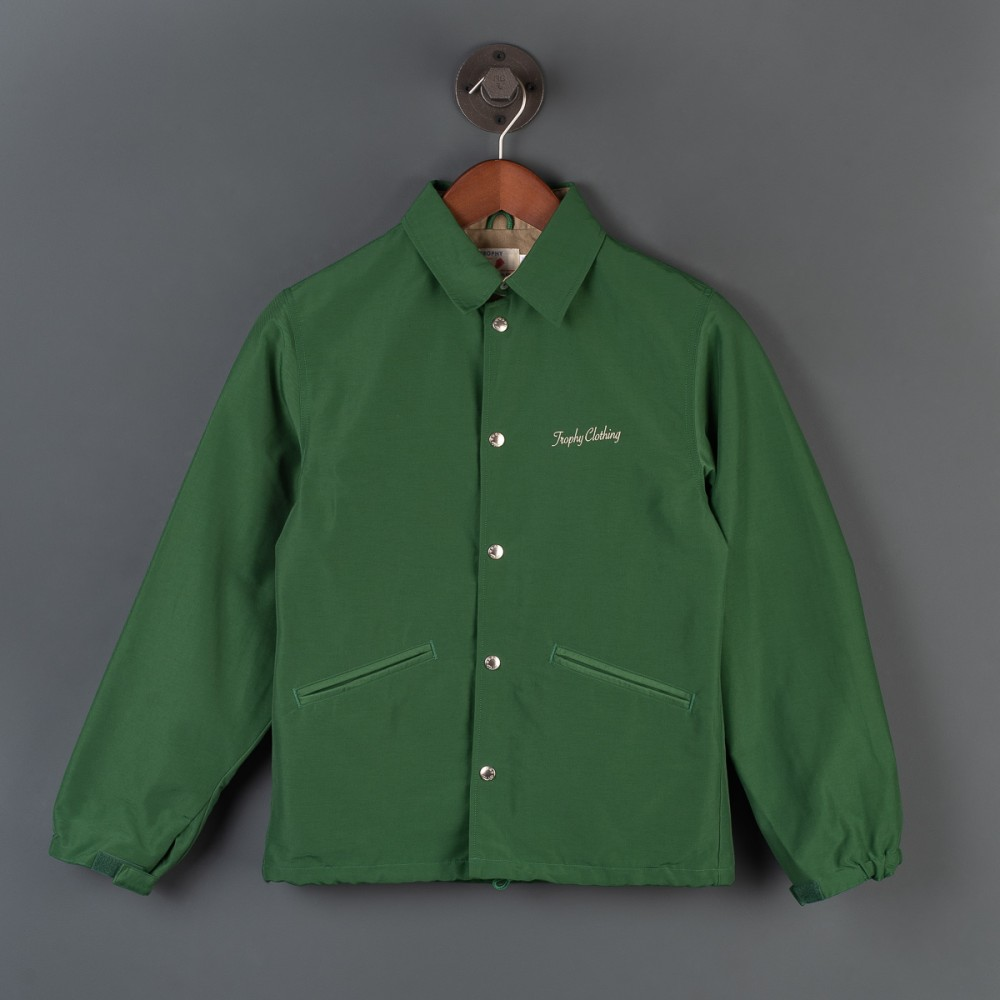 """Trophy Box Logo Warm Up Jacket - Olive-.jpg"""