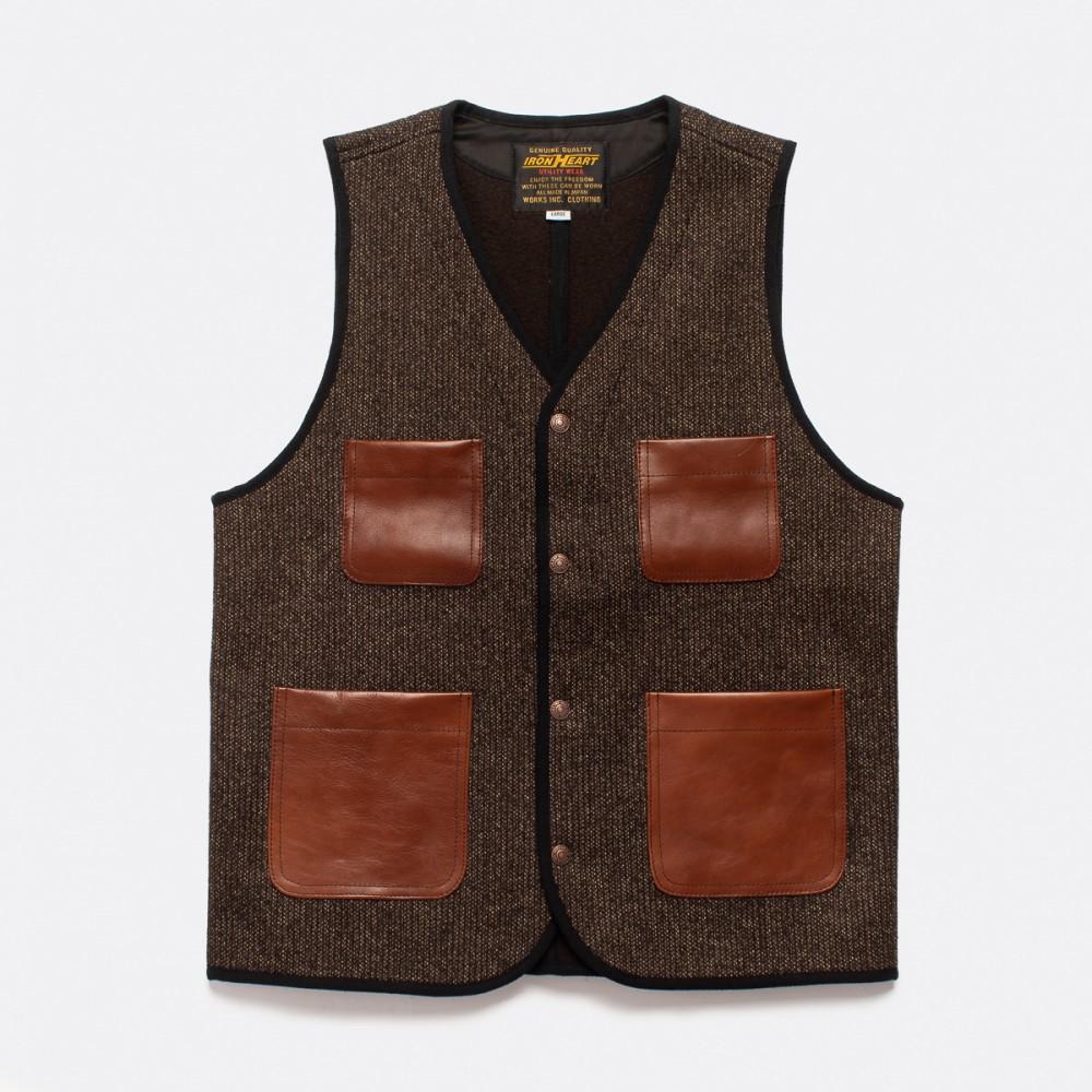 """IHV-40-BRN - Beach Cloth Vest - Brown-.jpg"""