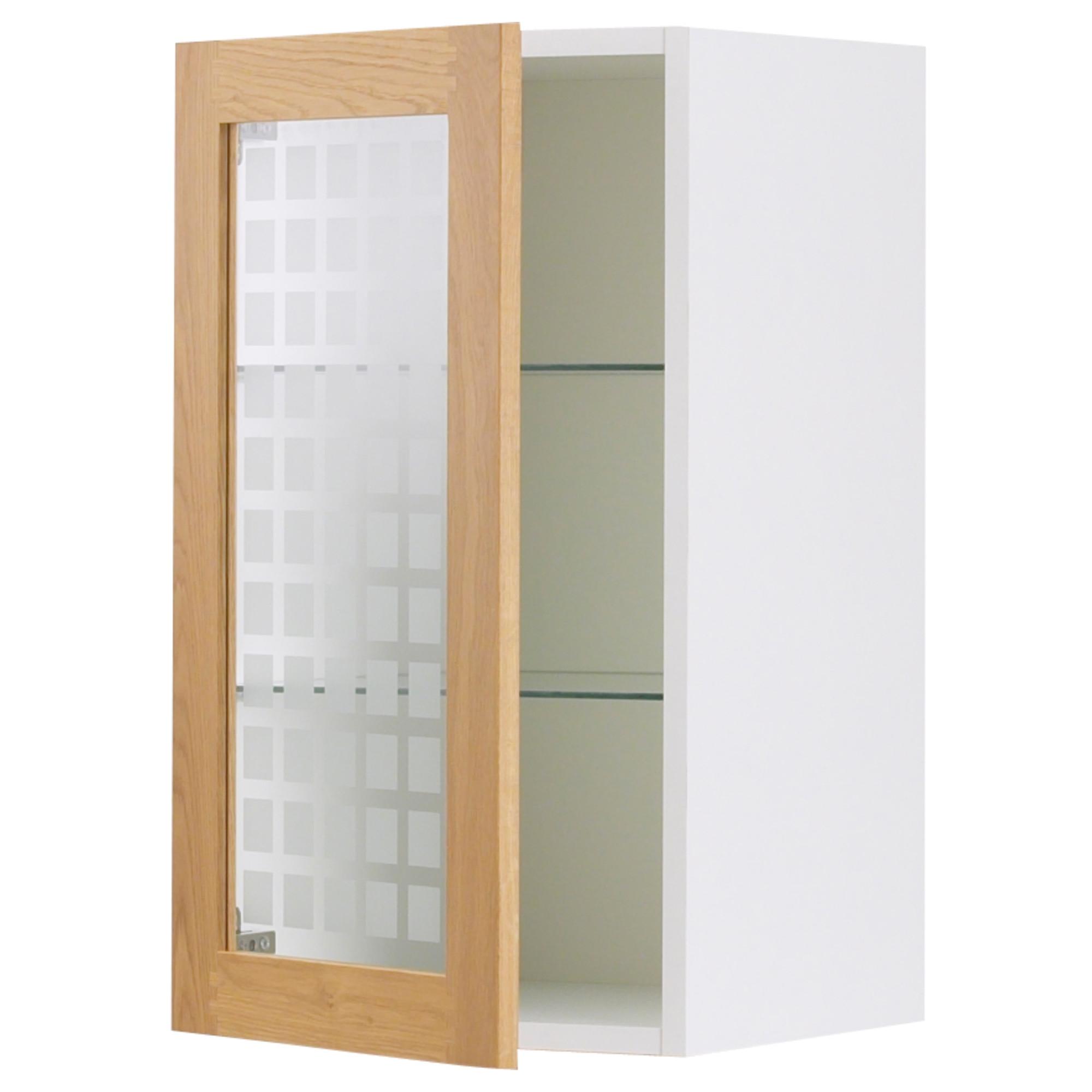 Фактум навесной шкаф со стеклянной дверью тидахольм дуб 30x7.