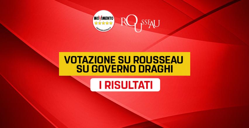 Votazione Su Rousseau Su Governo Draghi I Risultati Il Blog Delle Stelle