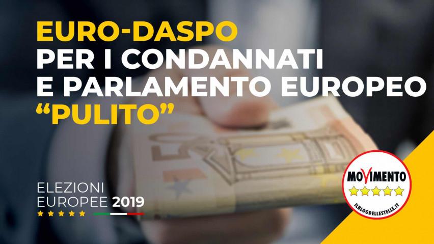 Europrogramma del MoVimento 5 Stelle: Eurodaspo per i condannati e Parlamento pulito